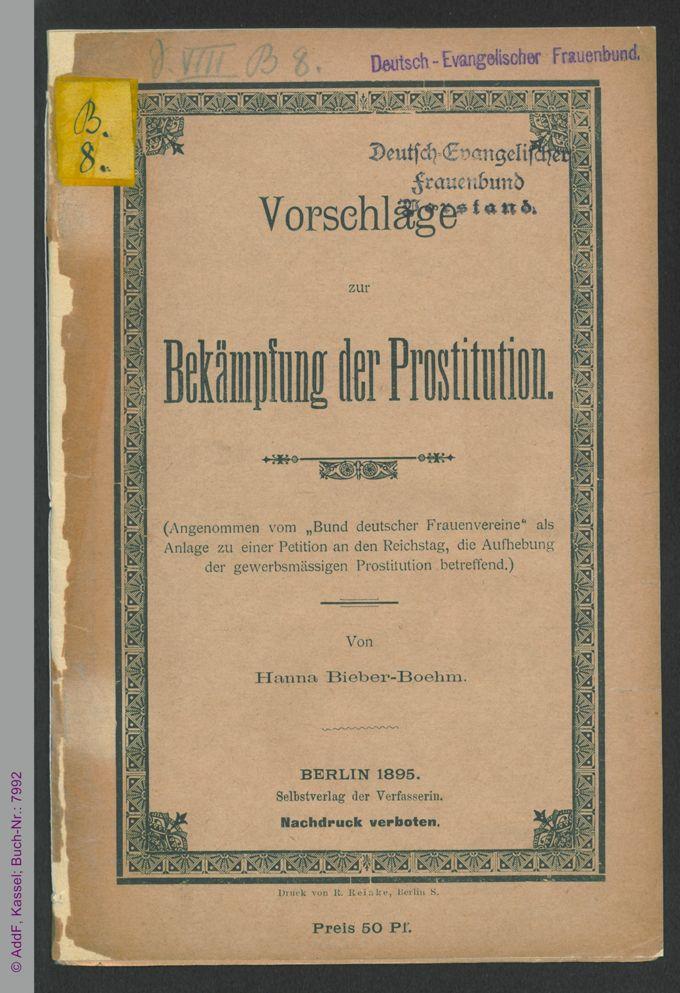 Vorschläge zur Bekämpfung der Prostitution / Seite 1