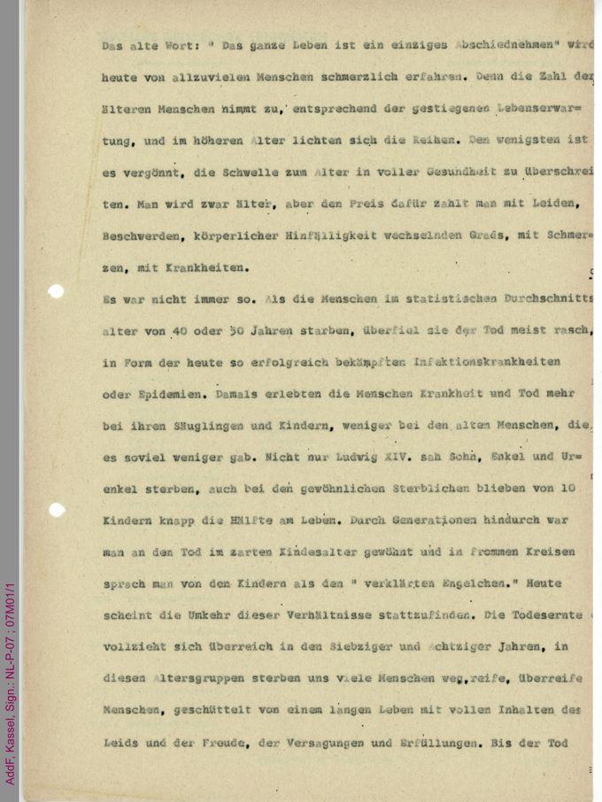 Manuskript [Alter 1] / Seite 1