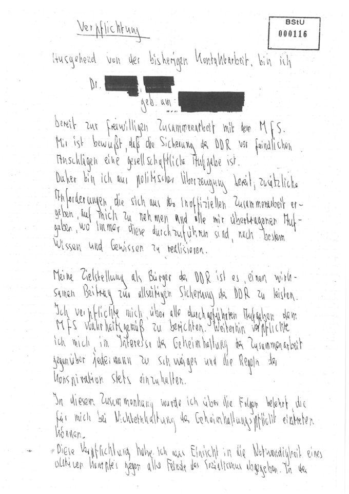 """Verpflichtungserklärung der IM """"Sonja Walther"""""""
