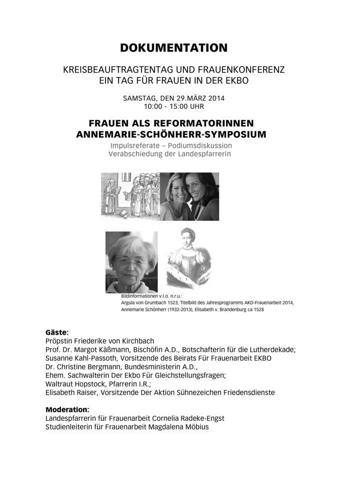 Dokumentation des Annemarie Schönherr Symposiums