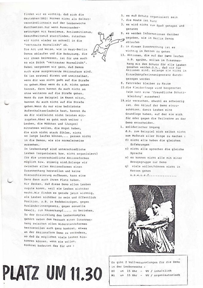 Aufruf zur Lesbendemo im Rahmen der Berliner Lesbenwoche 1990 / Seite 3