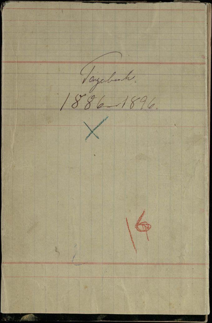 Tagebuch 1886-1896 / Seite 1