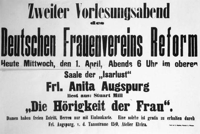 Zweiter Vorlesungsabend des Deutschen Frauenvereins Reform