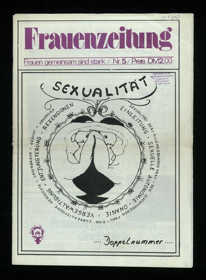Frauenzeitung : Frauen gemeinsam sind stark ; Sexualität (1975)5/6 / Seite 1