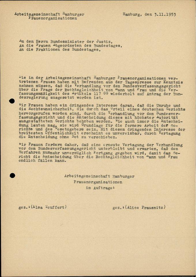 Diverse Briefe / Seite 1