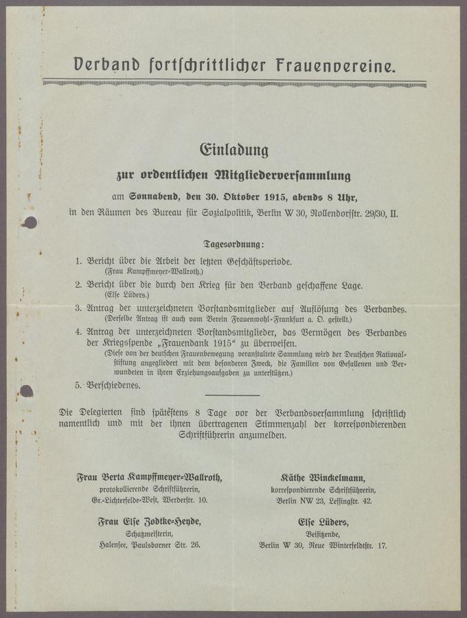 Korrespondenz des Vorstands / Seite 3