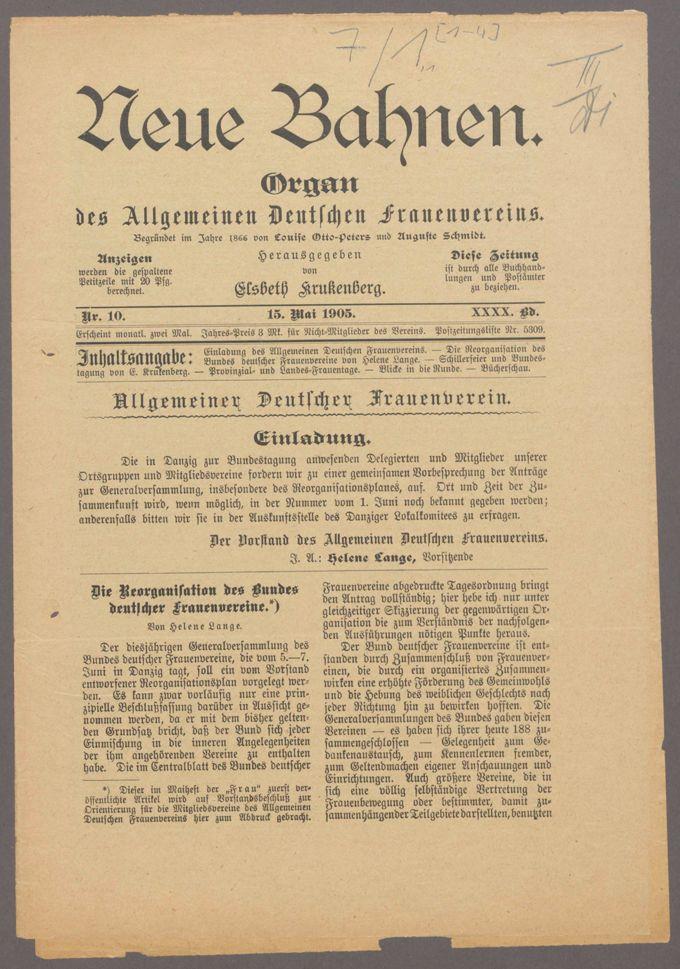 Verschiedene Zeitschriftenaufsätze und Zeitungsartikel zur Reorganisation des Bundes / Seite 3
