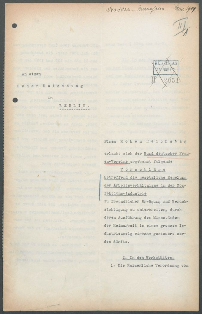 Petitionen betreffend Fabrik- und Heimarbeit / Seite 3