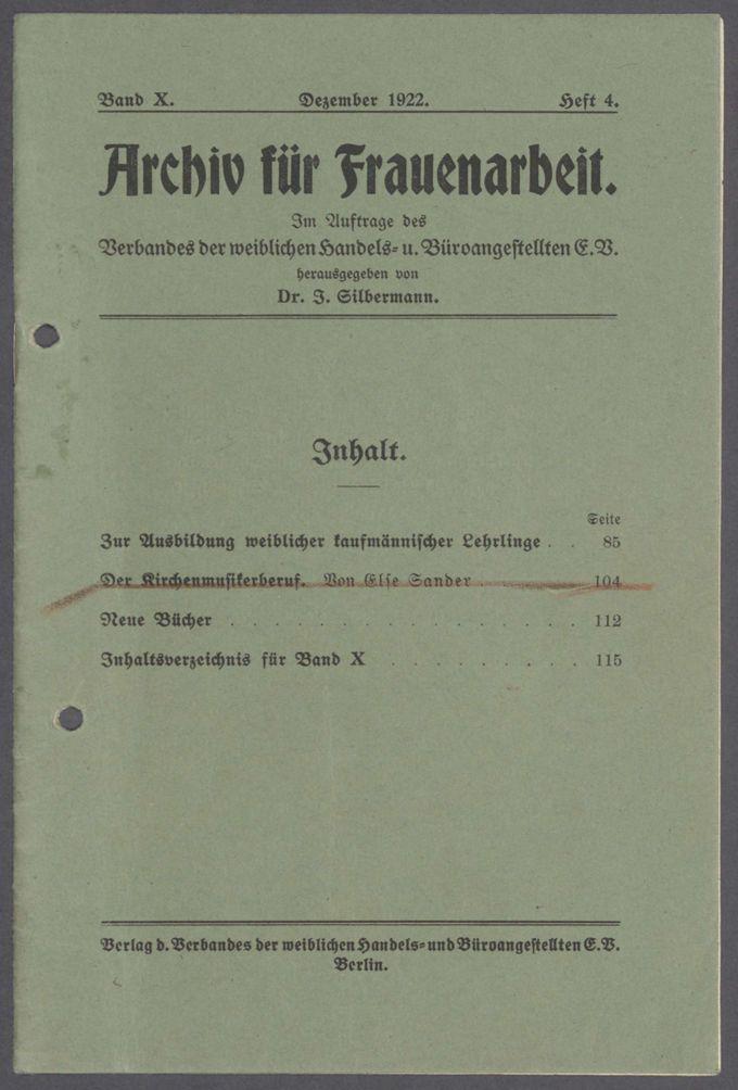 Vortragsmanuskript und Briefe von Gertrud Bäumer / Seite 10