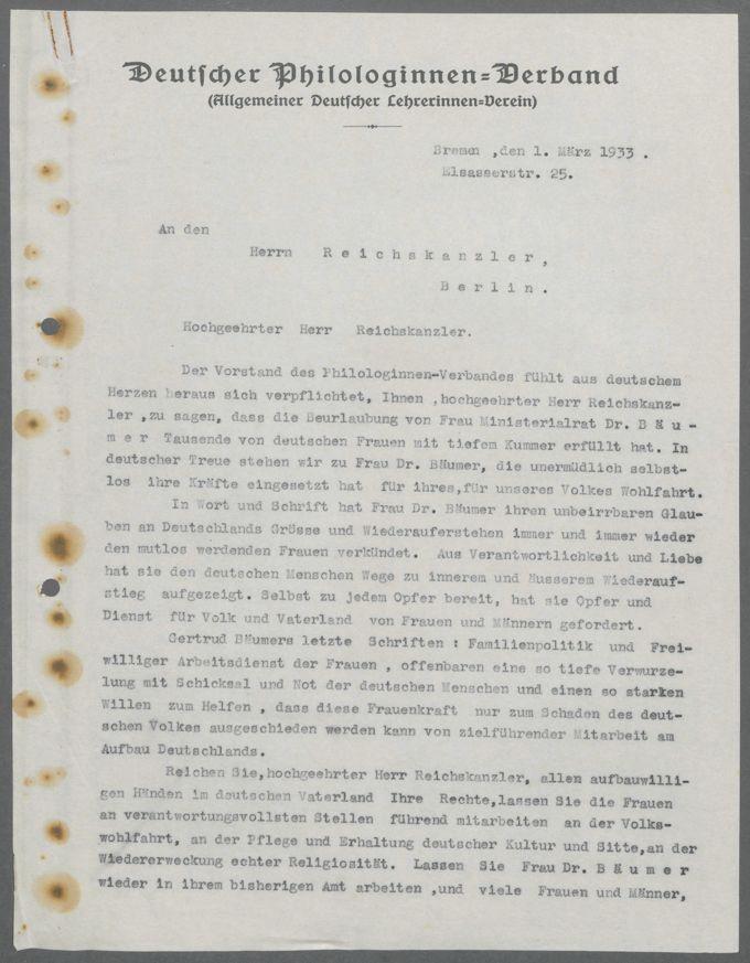 Schriftwechsel mit Ministerien der Länder und des Reiches / Seite 3
