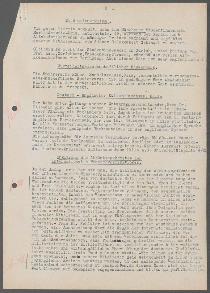 Vorstandssitzungen des DAB / Seite 205