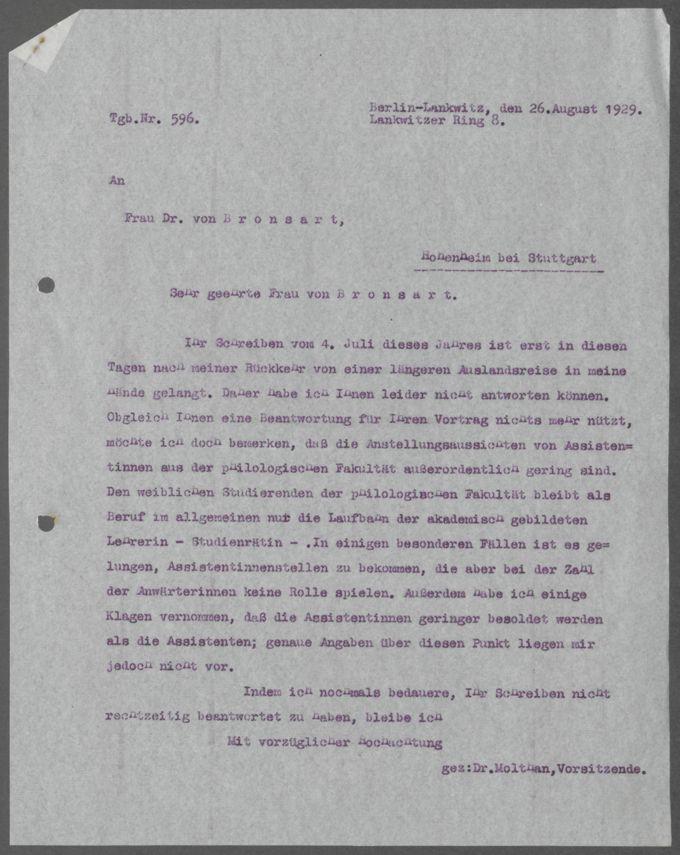 Korrespondenz des DAB / Seite 84