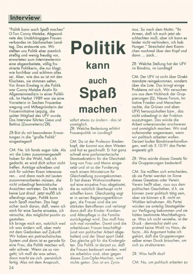 Politik kann auch Spaß machen / Seite 1