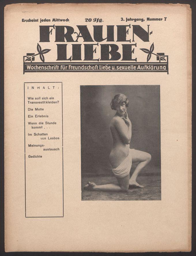 Liebende Frauen : Wochenschrift für Freundschaft, Liebe und sexuelle Aufklärung 3(1928)7 / Seite 1