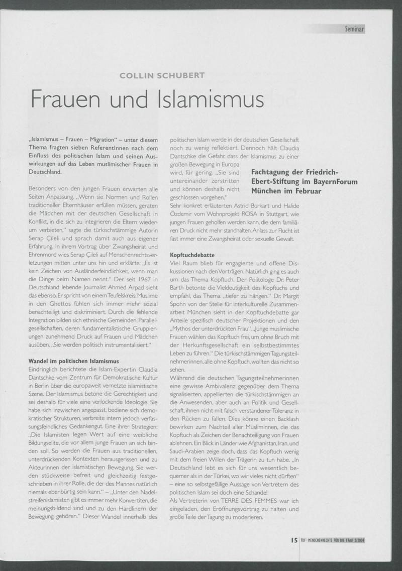 Frauen und Islamismus